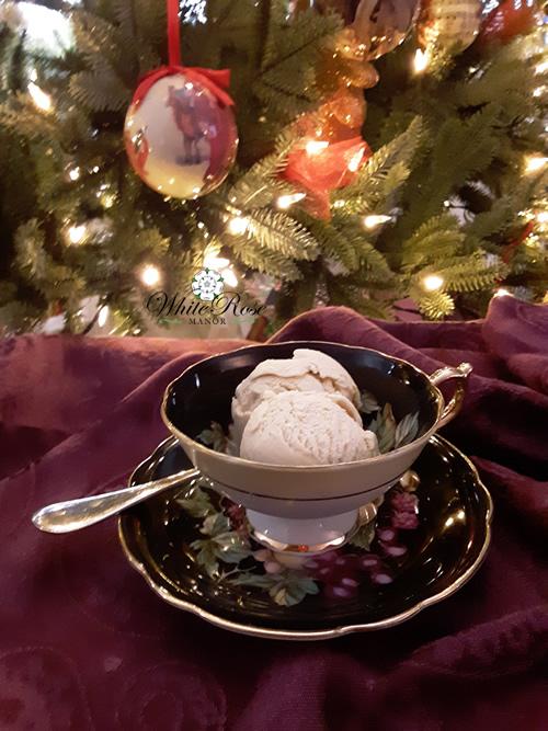 Holiday Magic Tea Ice Cream in teacup