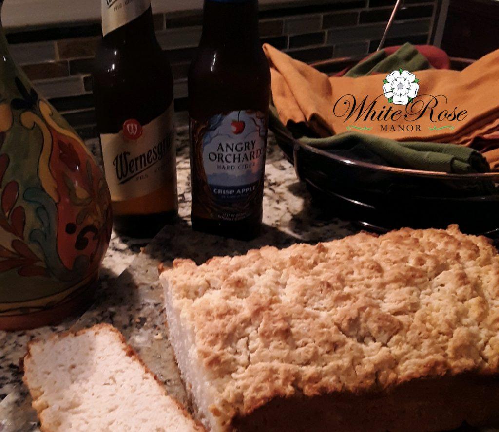 Finished hard cider bread loaf