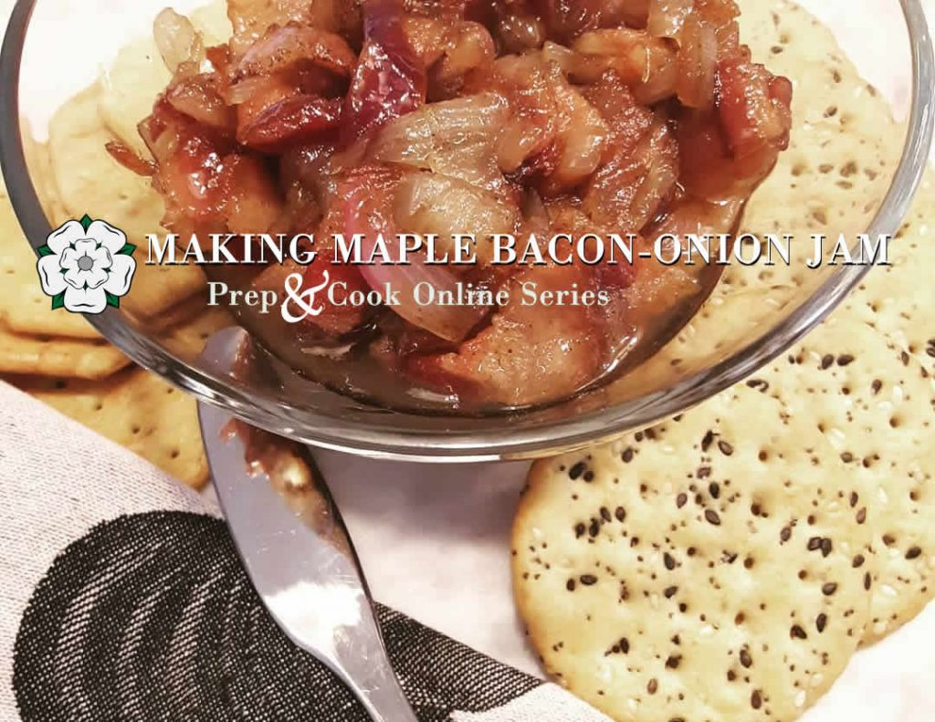 Maple Bacon Onion Jam with crackers image