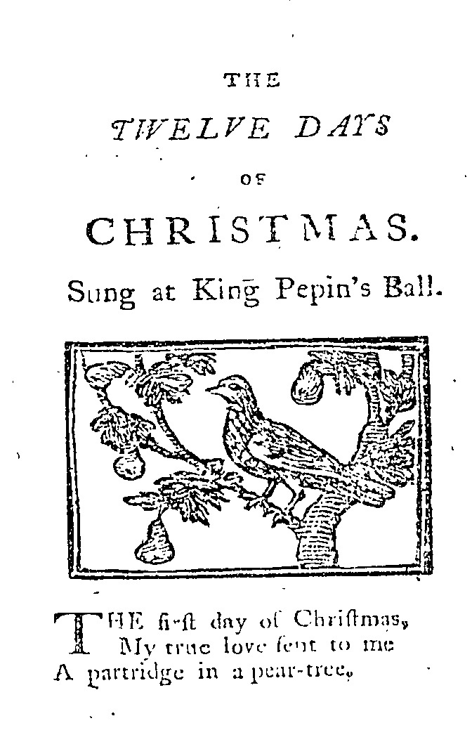 King Pepin 12 Days image from 1780 book Mirth Without Mischief